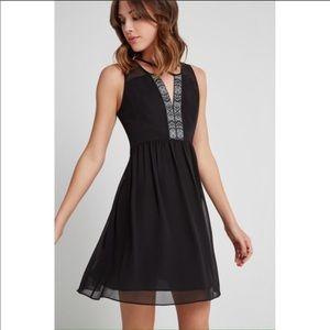 BCBGeneration Black Criss-cross front dress